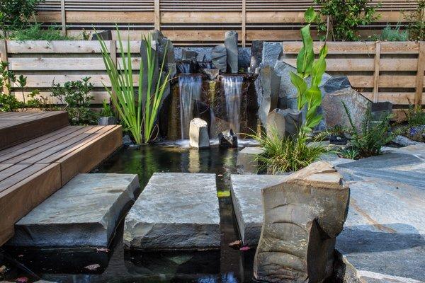 sw alice street garden modern home  portland oregon