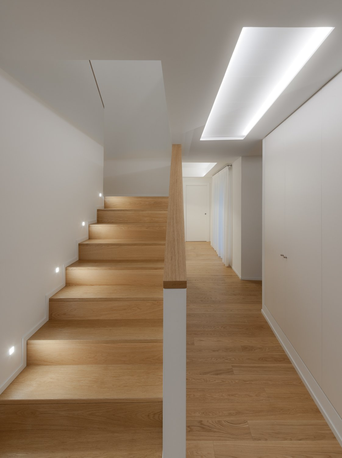 Staircase and Metal Tread Interior  PD House by EXiT architetti associati