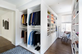 Crisp White Walk-In Closet
