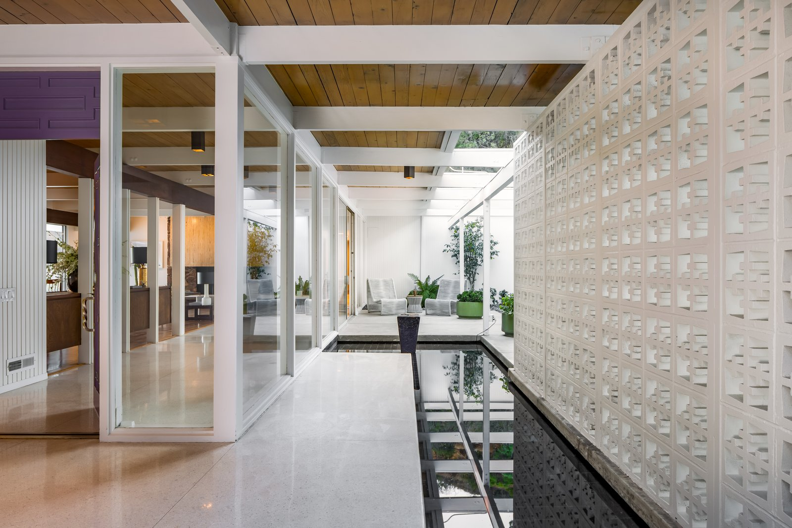 Exterior, Mid-Century Building Type, and House Building Type Flooded with natural light, the residence is a warm and welcoming retreat.   Best Photos from The Brander House