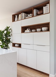 Custom pantry and design center, cabinetry by Kaimade