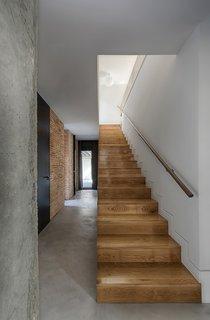 wood + manual lime brickwork + concrete