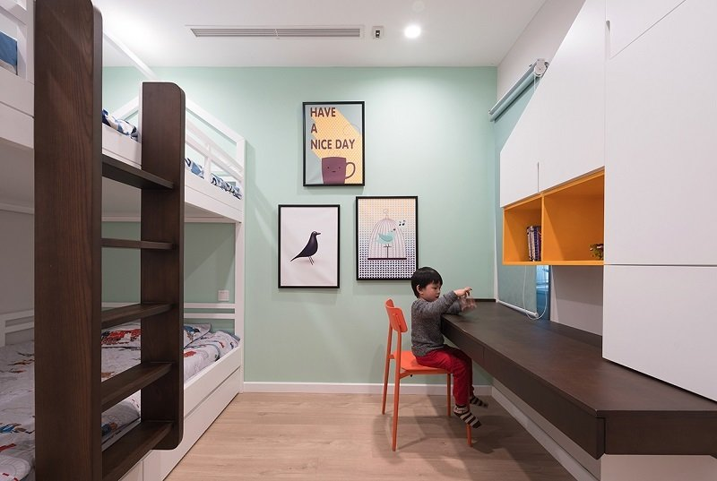 Kids, Bedroom, Bunks, Chair, Bookcase, Light Hardwood, Toddler, Boy, and Desk Kidroom  Best Kids Light Hardwood Bunks Desk Toddler Photos from Kids rooms
