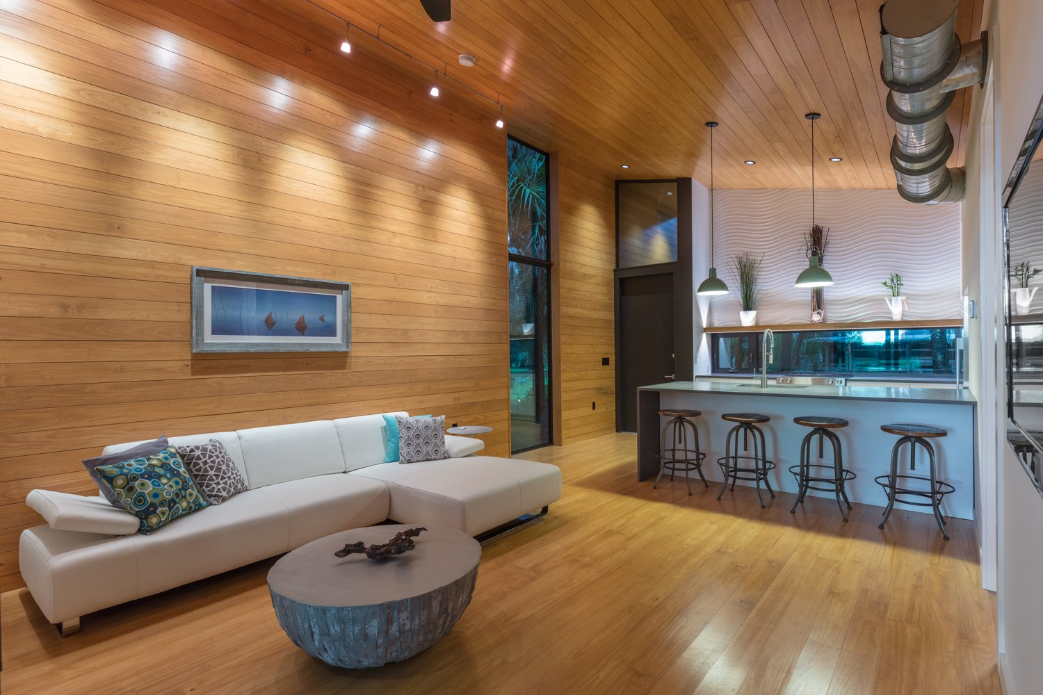 Living Room, Sectional, Coffee Tables, Stools, Recessed Lighting, Accent Lighting, and Pendant Lighting Great Room.   Mike's Hammock by Josh Wynne