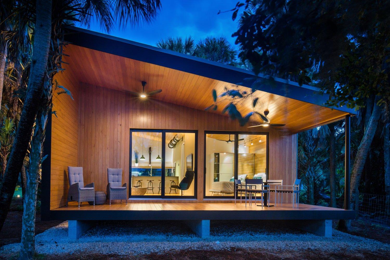 Exterior Rear Elevation  Mike's Hammock by Josh Wynne