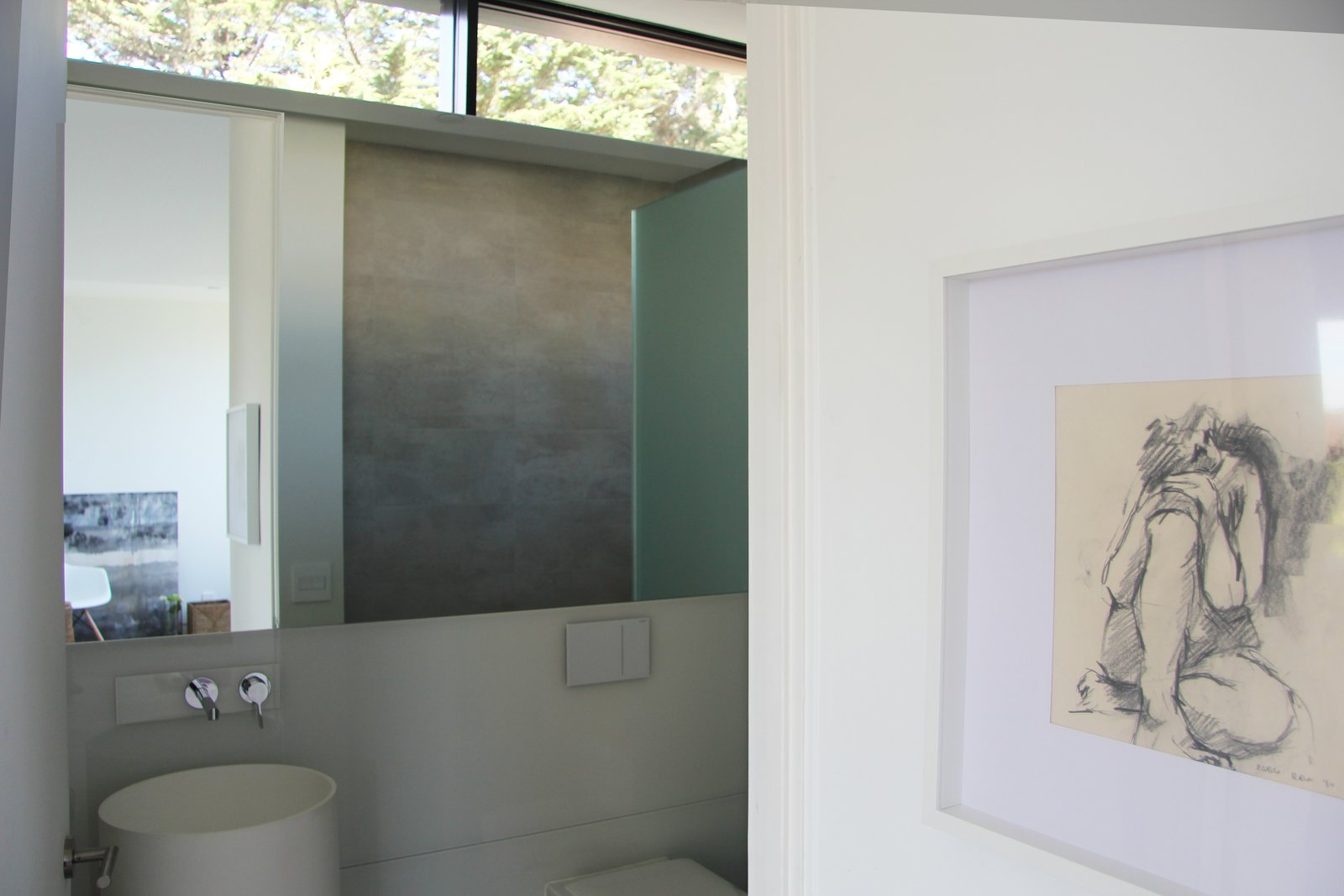 Bath, Pedestal, Enclosed, Ceiling, Recessed, and One Piece Powder room  Bath One Piece Recessed Pedestal Photos from Kelly House