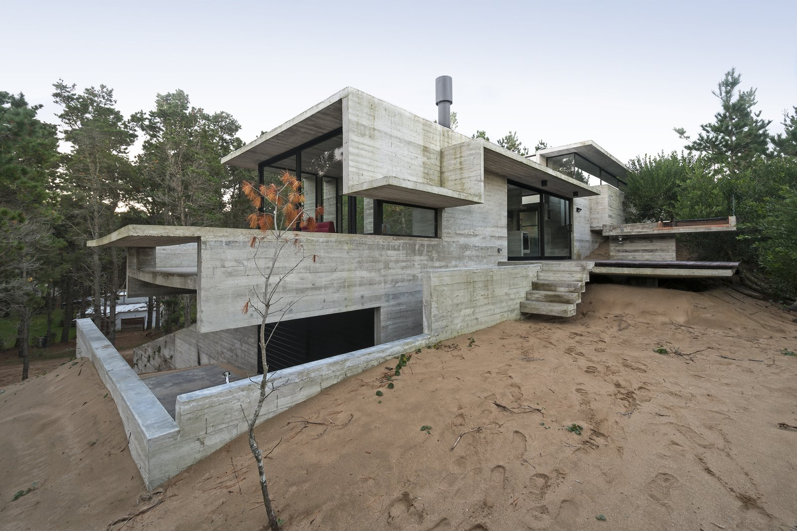 Exterior, Beach House Building Type, Concrete Siding Material, and Glass Siding Material Wein House - Besonías Almeida arquitectos  Wein House by Besonías Almeida arquitectos