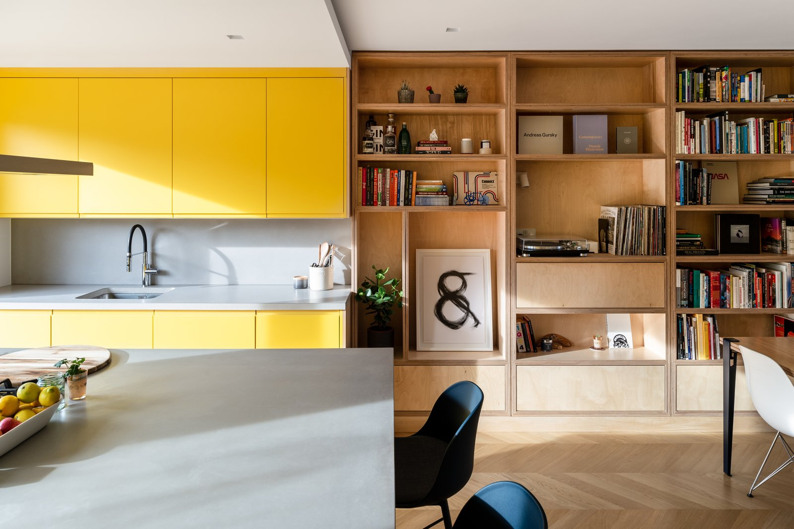 Living Room Bearstead Rise by Gruff Architects  Photo 1 of 13 in A Reinvented Terrace House in London Is Chock-Full of Clever Storage from Bearstead Rise by Gruff Architects