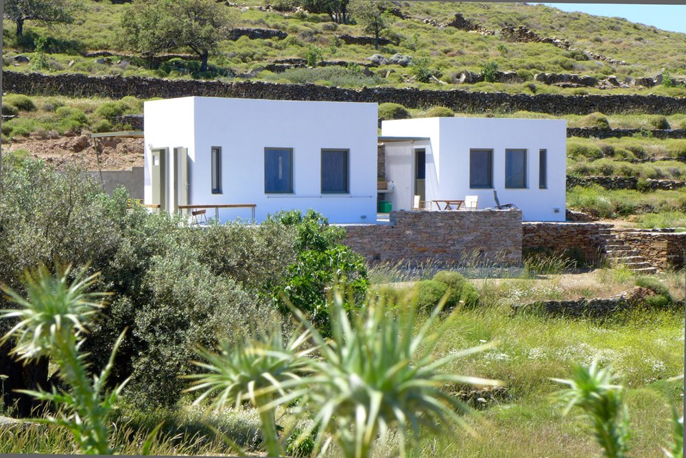House, Green, Camper, Stucco, Flat, Concrete, Small Home, Tiny Home, and Exterior exterior view of the house  Exterior Green Flat Stucco Small Home Photos from the camping house