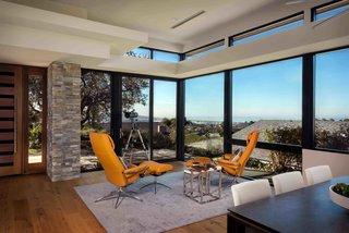 Lounge space with coastal views