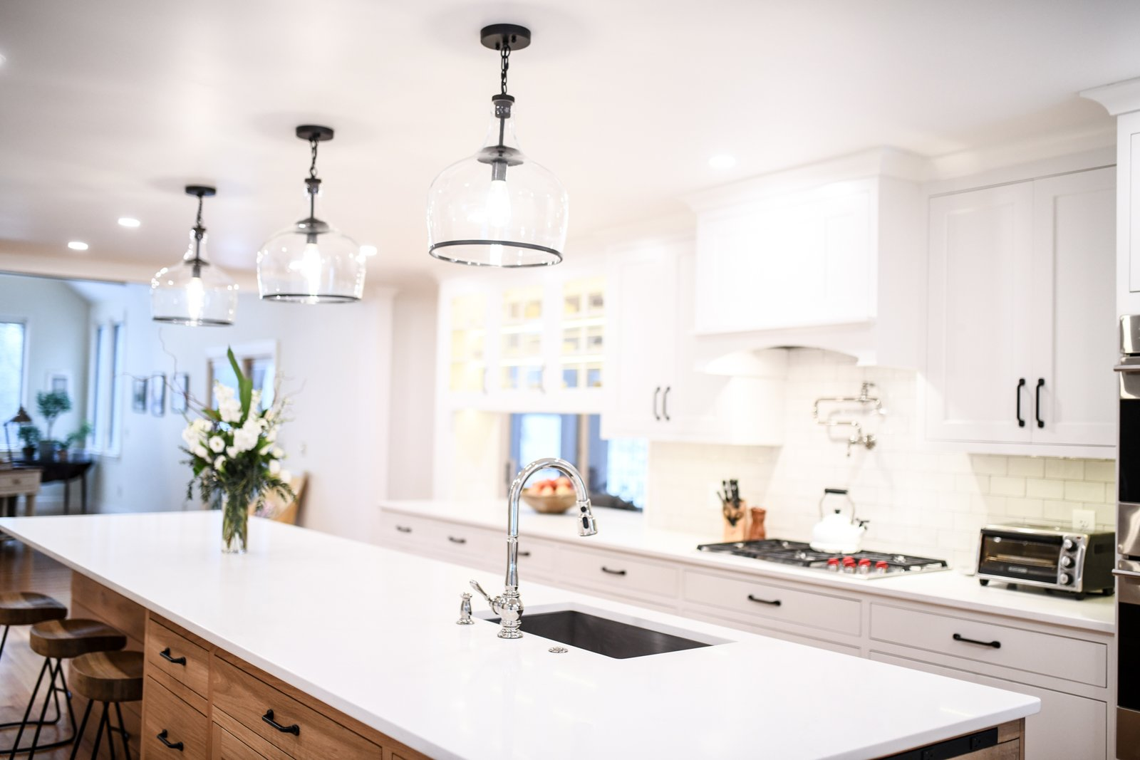 Transitional Farmhouse Kitchen Modern Home In Rye New