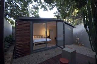 main bedroom courtyard with outdoor seating area