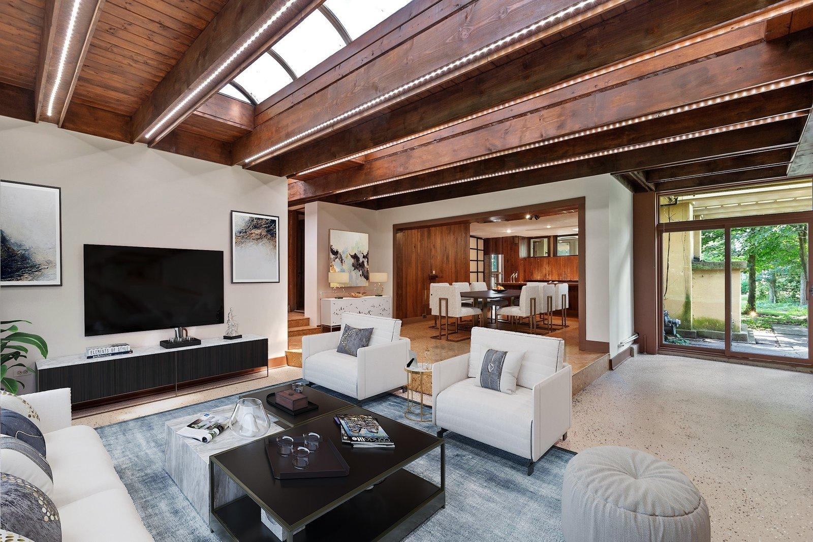 Avery Coonley Playhouse Frank Lloyd Wright living room