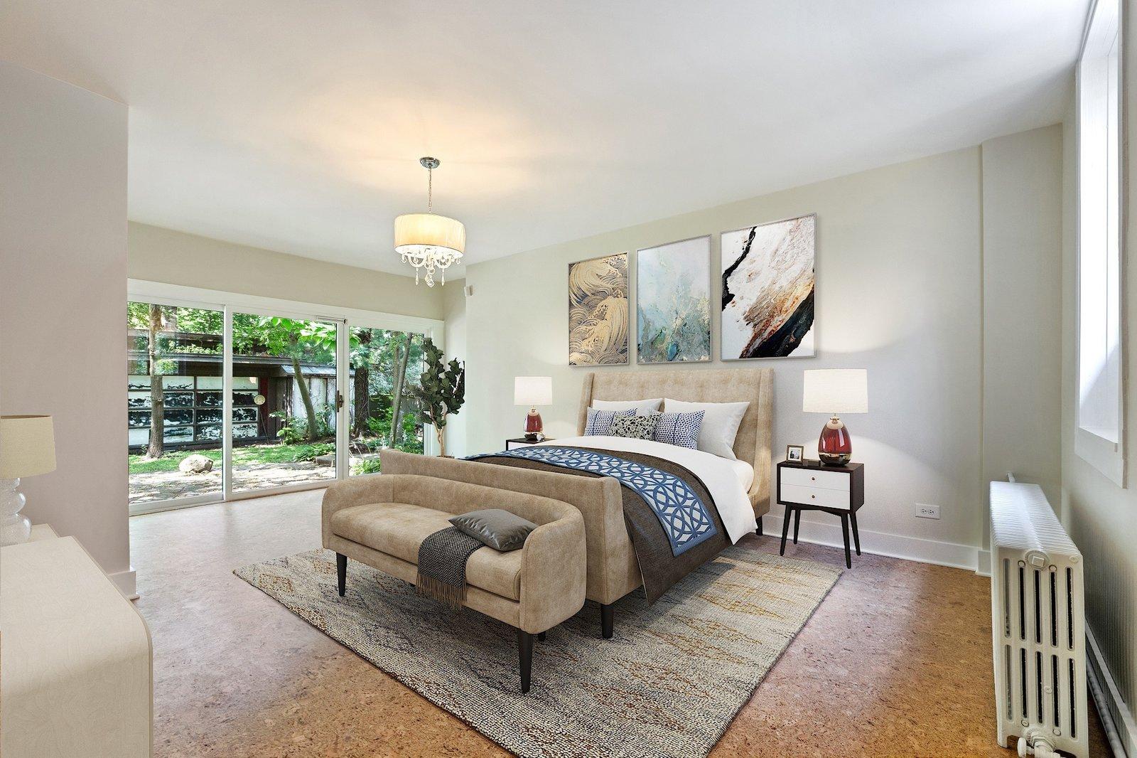 Avery Coonley Playhouse Frank Lloyd Wright bedroom