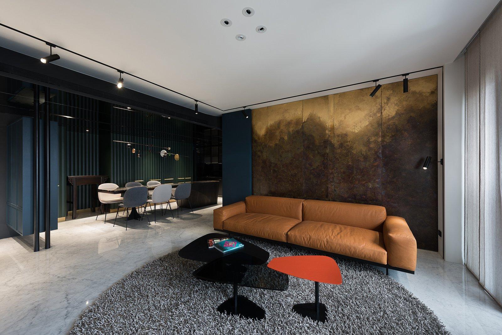 Living Room Living Room & Dining Room  Residence C.A. by W&Li Design