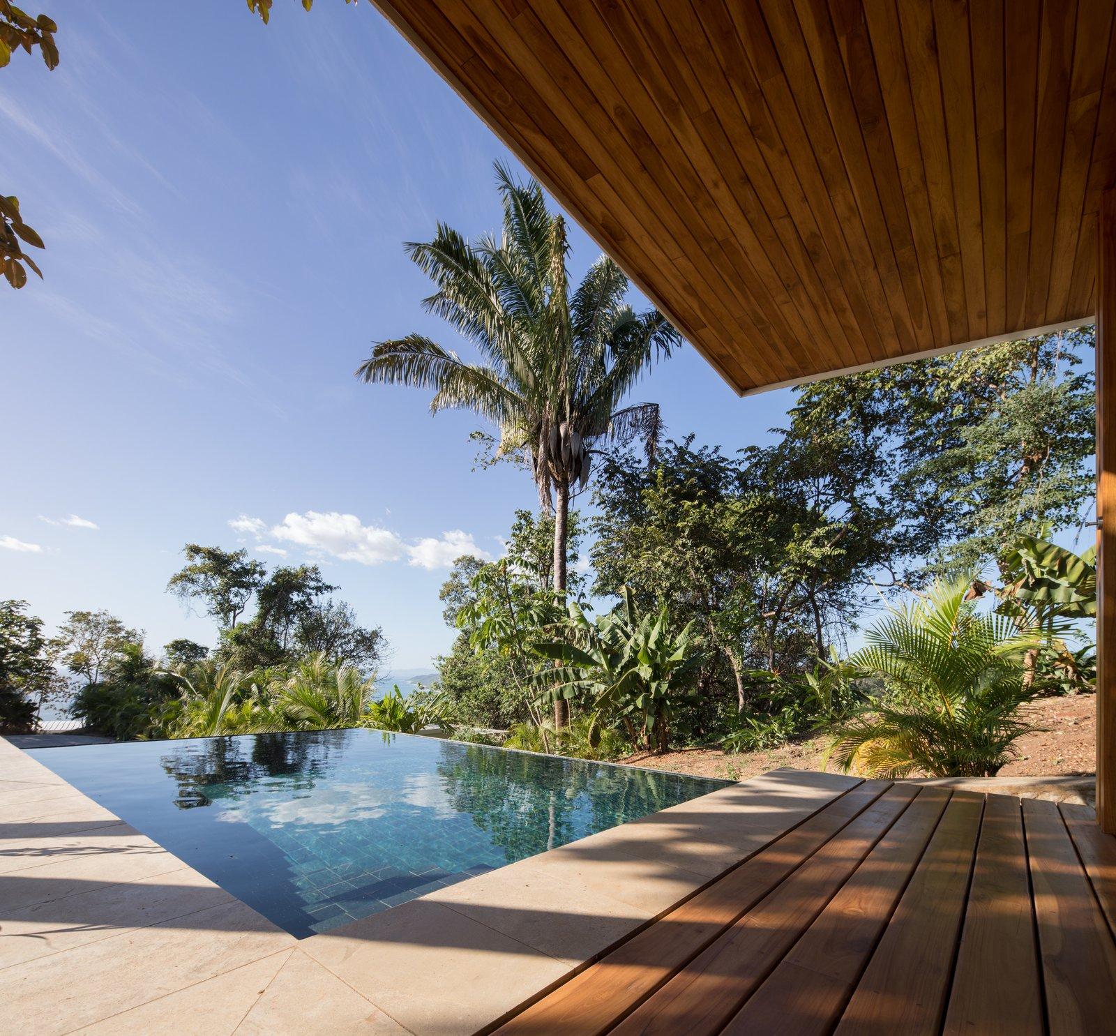 Outdoor, Trees, and Front Yard Deck and small pool  Casa de la Tierra y el Mar
