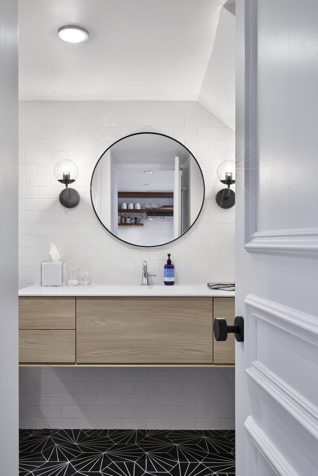 Bath Room Vanity and Sink by Archisesto Tile by Nemo  4th Ave./Union Square Apartment