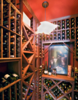 Modern home with Storage Room and Closet Storage Type. Climate controlled wine room. Photo 7 of Hawaii Architect's Home in Keauhou Estates