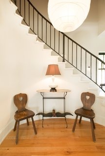 Staircase sitting nook