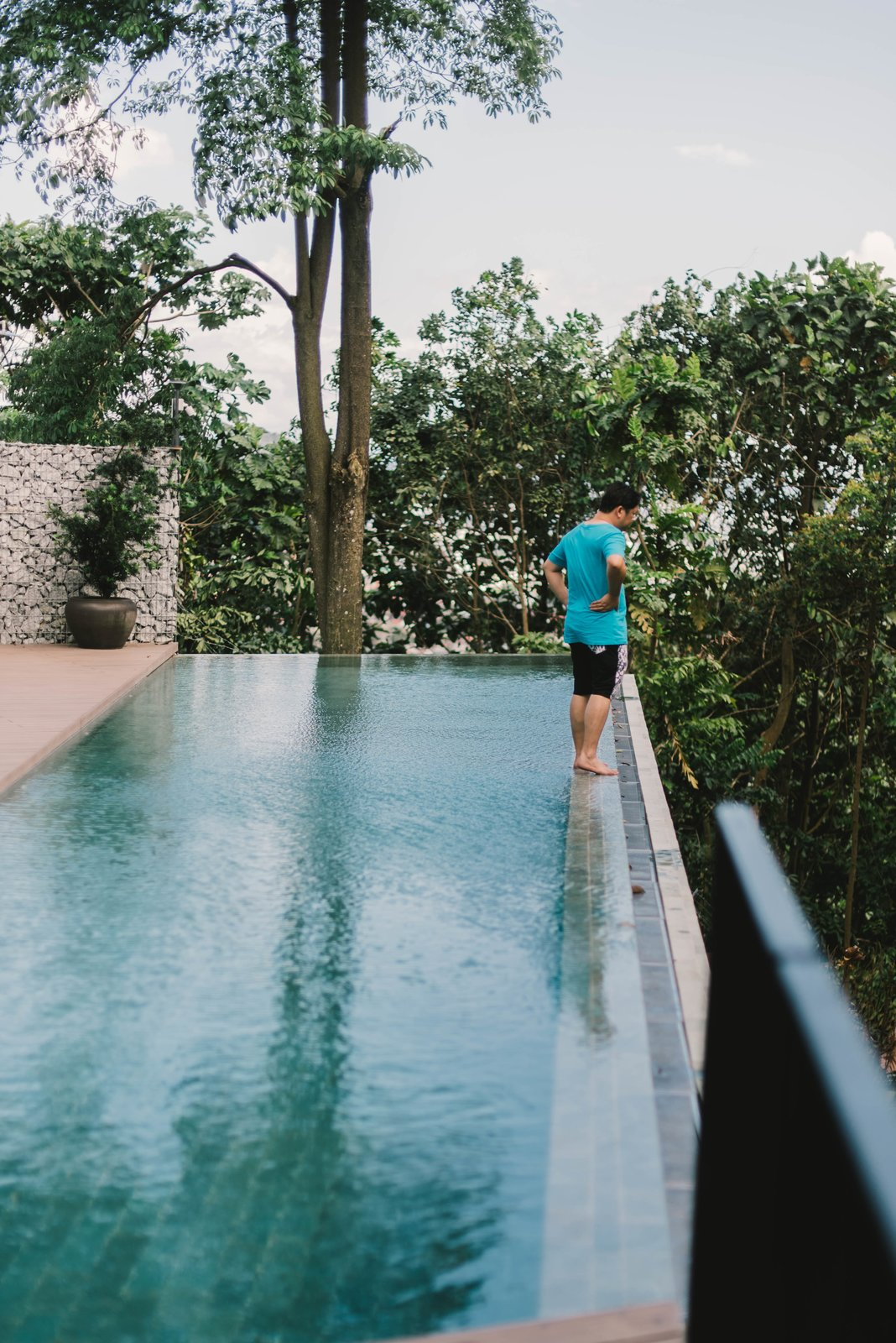 Infinity pool by forest Tagged: Outdoor, Infinity Pools, Tubs, Shower, Large Pools, Tubs, Shower, and Trees.  The Window House