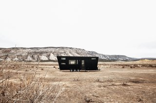 Large for a tiny house RV, but still small - especially in the western landscape.
