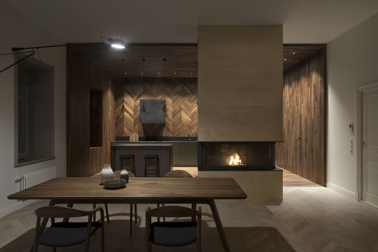The dining room in INT2 architecture's Saint Petersburg apartment