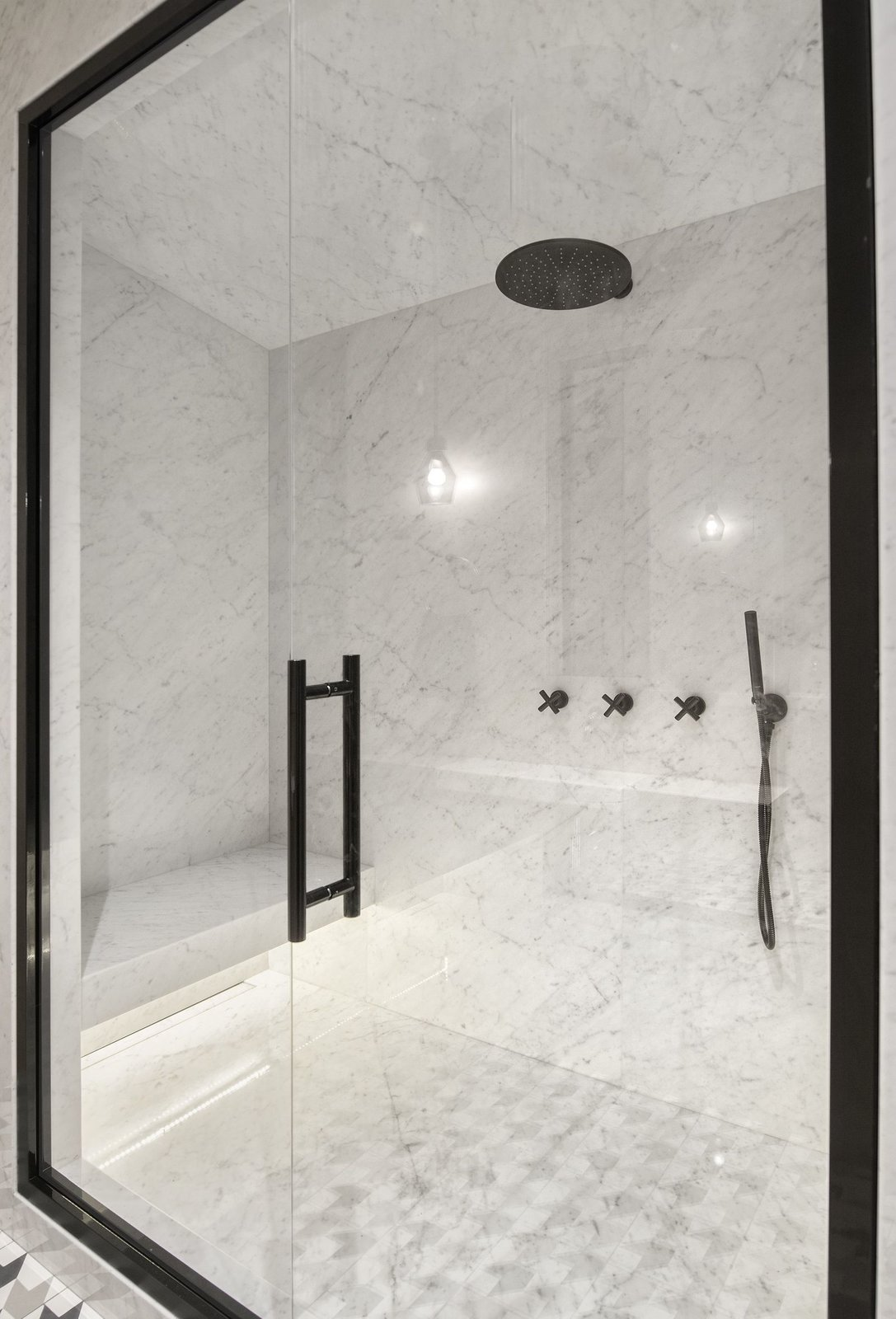 A shower in INT2 architecture's Saint Petersburg apartment