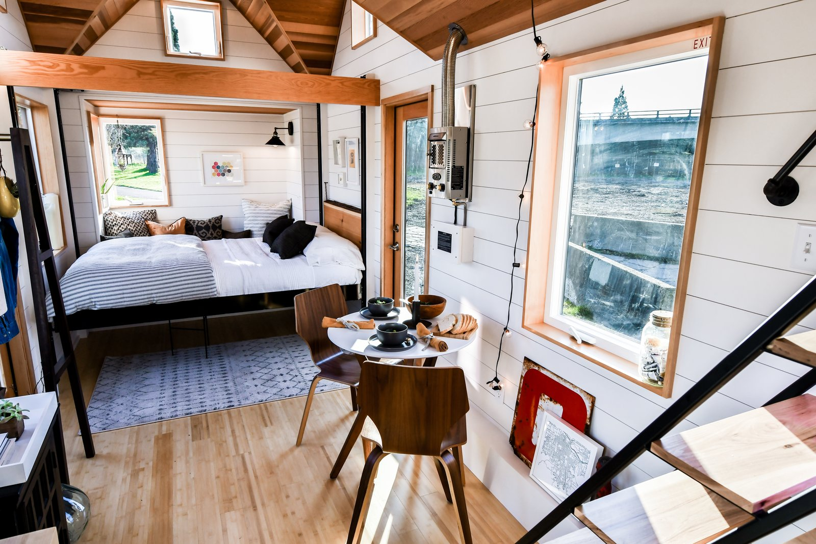 Urban Payette tiny home with lowered bed