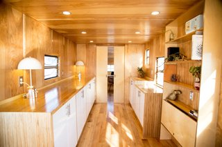 Looking aft towards the private rear office in this 35ft. Spartan trailer