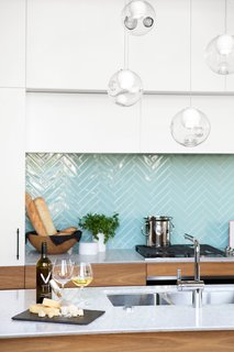 Herringbone glass tile from Interstyle