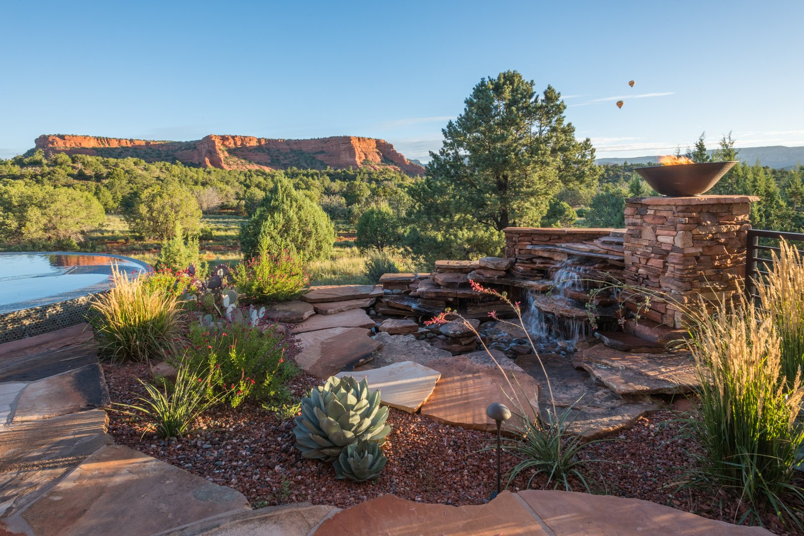 Outdoor and Back Yard Sounds Of Tranquility Off Master Suite  Sedona. Extraordinary. Serenity. Luxury. Green Living.