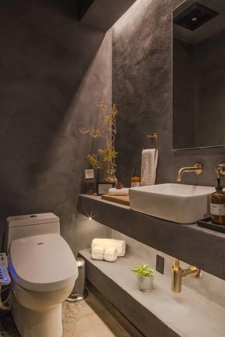 Bath Room, Vessel Sink, and One Piece Toilet Bathroom   Folly   Off Grid by malek alqadi