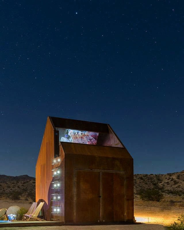 Outdoor, Landscape, Wood, Metal, Boulders, Plunge, Desert, and Rooftop Stargazing Portal   Outdoor Desert Plunge Photos from Folly | Off Grid