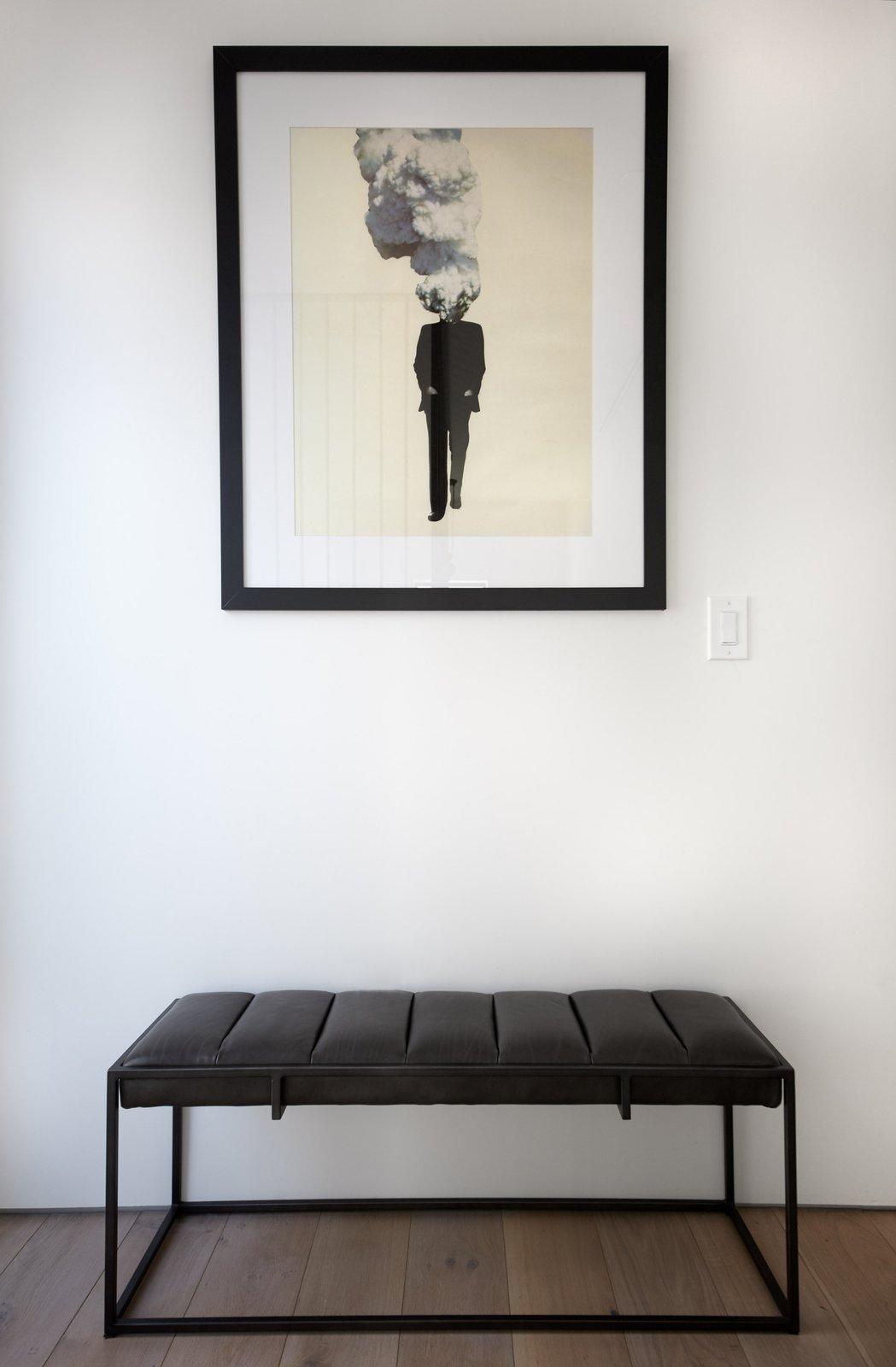 Hallway and Light Hardwood Floor Print by artist Richard Vergez.  Normal Heights Residence