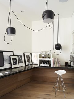 Contrasting Light And Dark Elements Abound In This Gorgeous Home Office In  West Vancouver Designed By