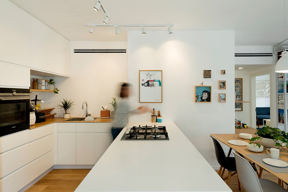 The open Kitchen and Dining Room