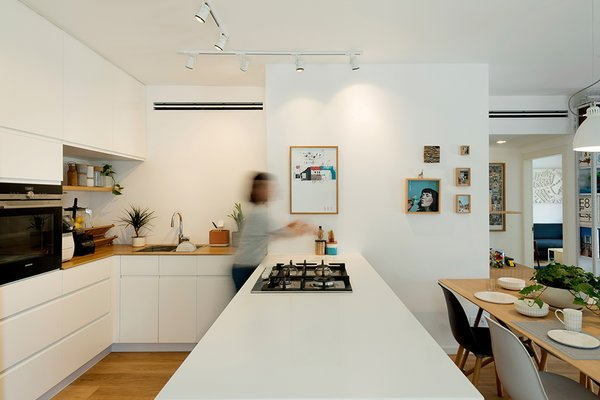 The Open Kitchen and Dining Table