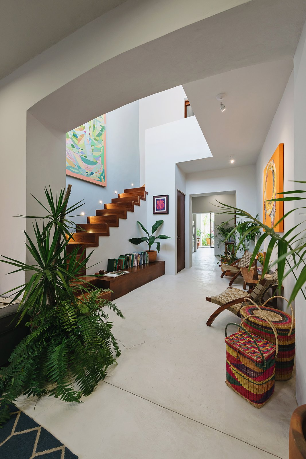 Staircase and Wood Tread Staircase  Photo 1 of 6 in Top 5 Homes of the Week With Captivating Staircases from Casa Picasso