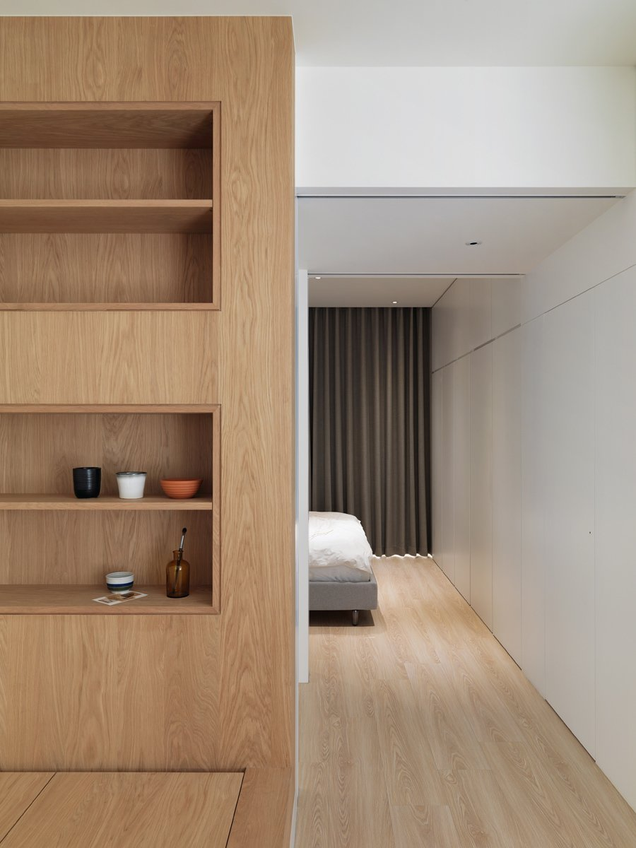 Bedroom, Ceiling, Recessed, Bed, Storage, Bunks, Light Hardwood, Bookcase, Lamps, and Wardrobe https://www.facebook.com/luriinner  Bedroom Storage Bookcase Wardrobe Ceiling Bunks Recessed Photos