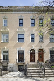 Exterior of the Harlem brownstone.