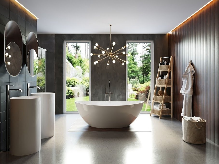 SoCal Homeowner Creates Modern Spa Oasis With Stand Alone Sinks, Faucets U0026  Tub From Badeloft