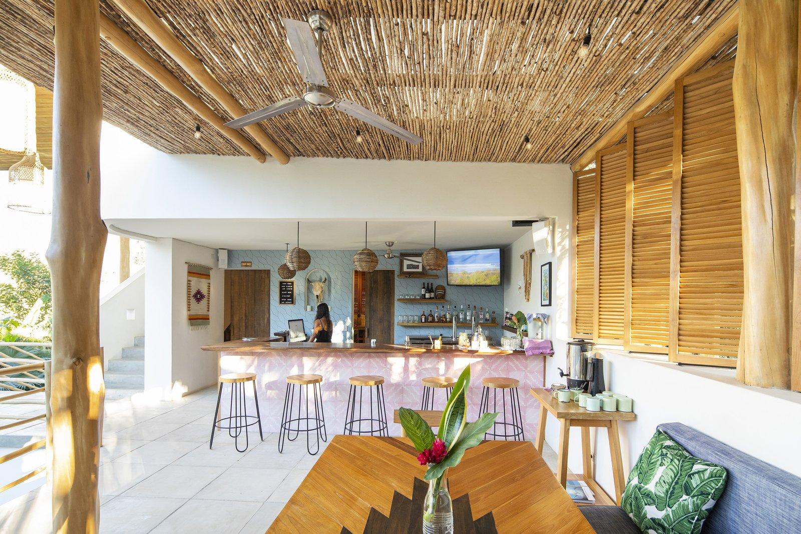 Outdoor and Rooftop Bar / Breakfast Area  Nomadic Nosara