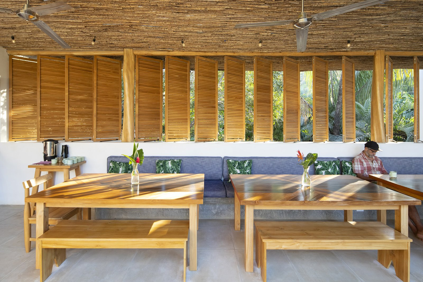 Dining Room, Bench, and Concrete Floor Dining   Nomadic Nosara