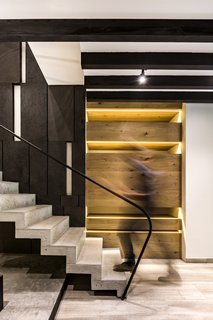 The composition aspires to reflect a timeless space