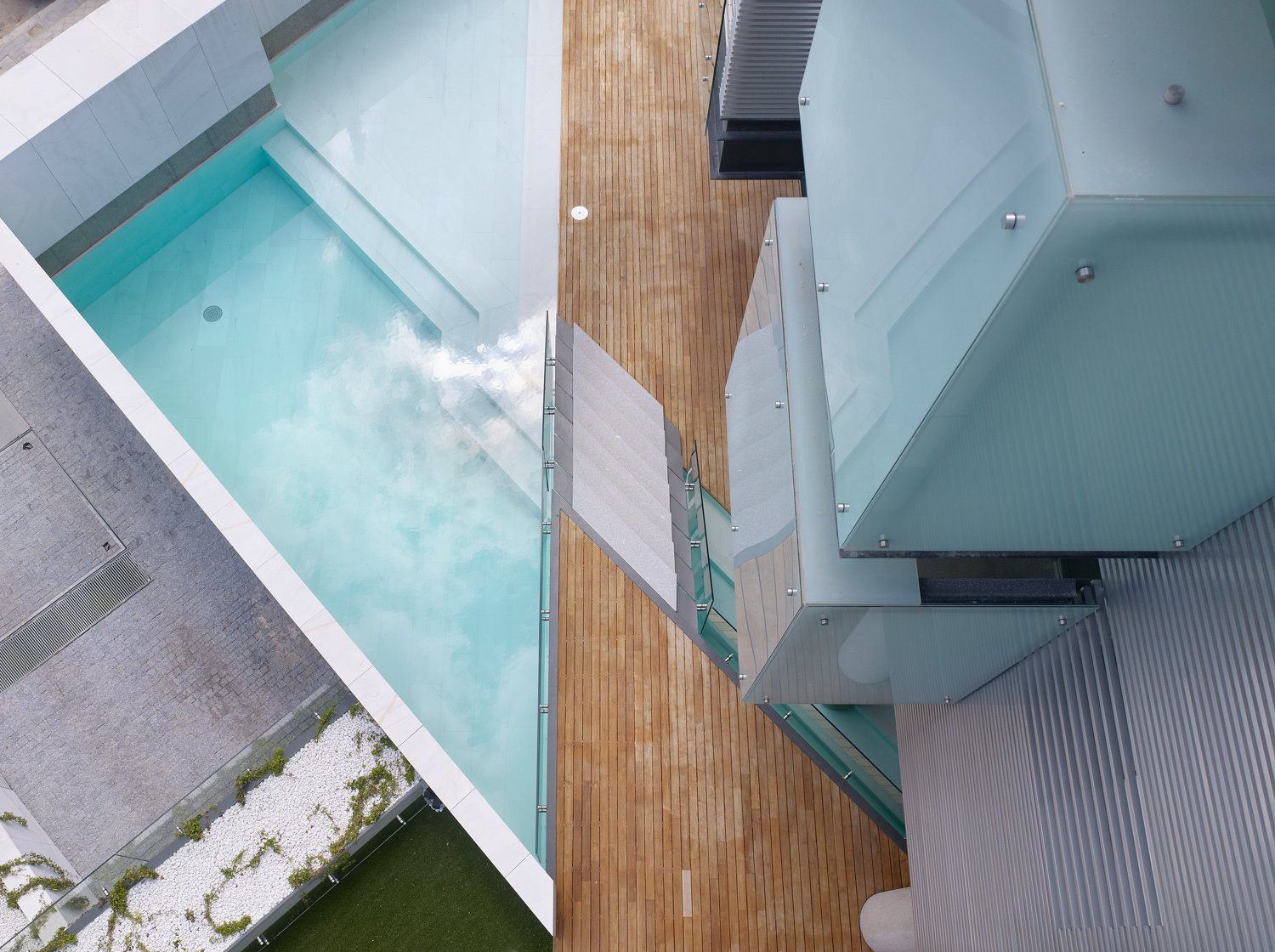 Outdoor, Garden, and Swimming Pools, Tubs, Shower .View overhead of a part of the common areas  Madroños 27