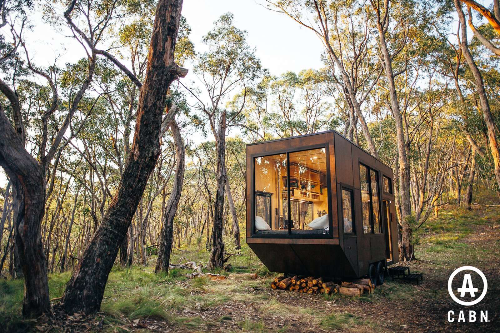 Exterior, Metal Siding Material, Small Home Building Type, Wood Siding Material, Flat RoofLine, Tiny Home Building Type, and Metal Roof Material A self sustainable, eco friendly, Australian made tiny home.  CABN