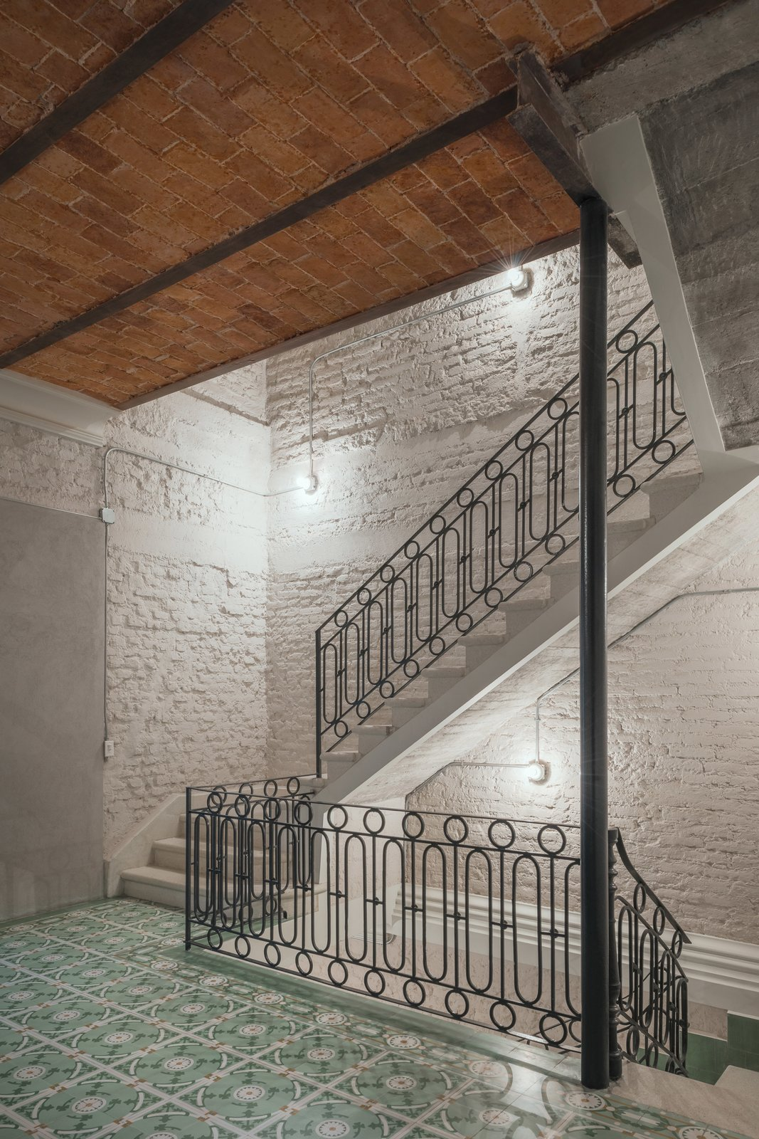 Staircase, Metal Railing, and Concrete Tread Stairway  Lirio 7