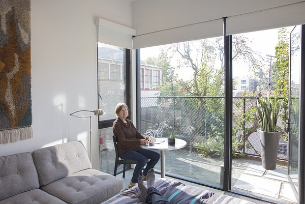 Large windows let in ample light.