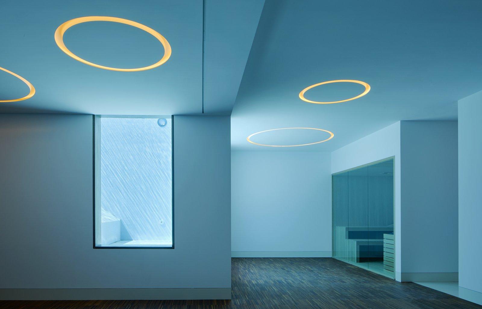 Lighting in the basement.