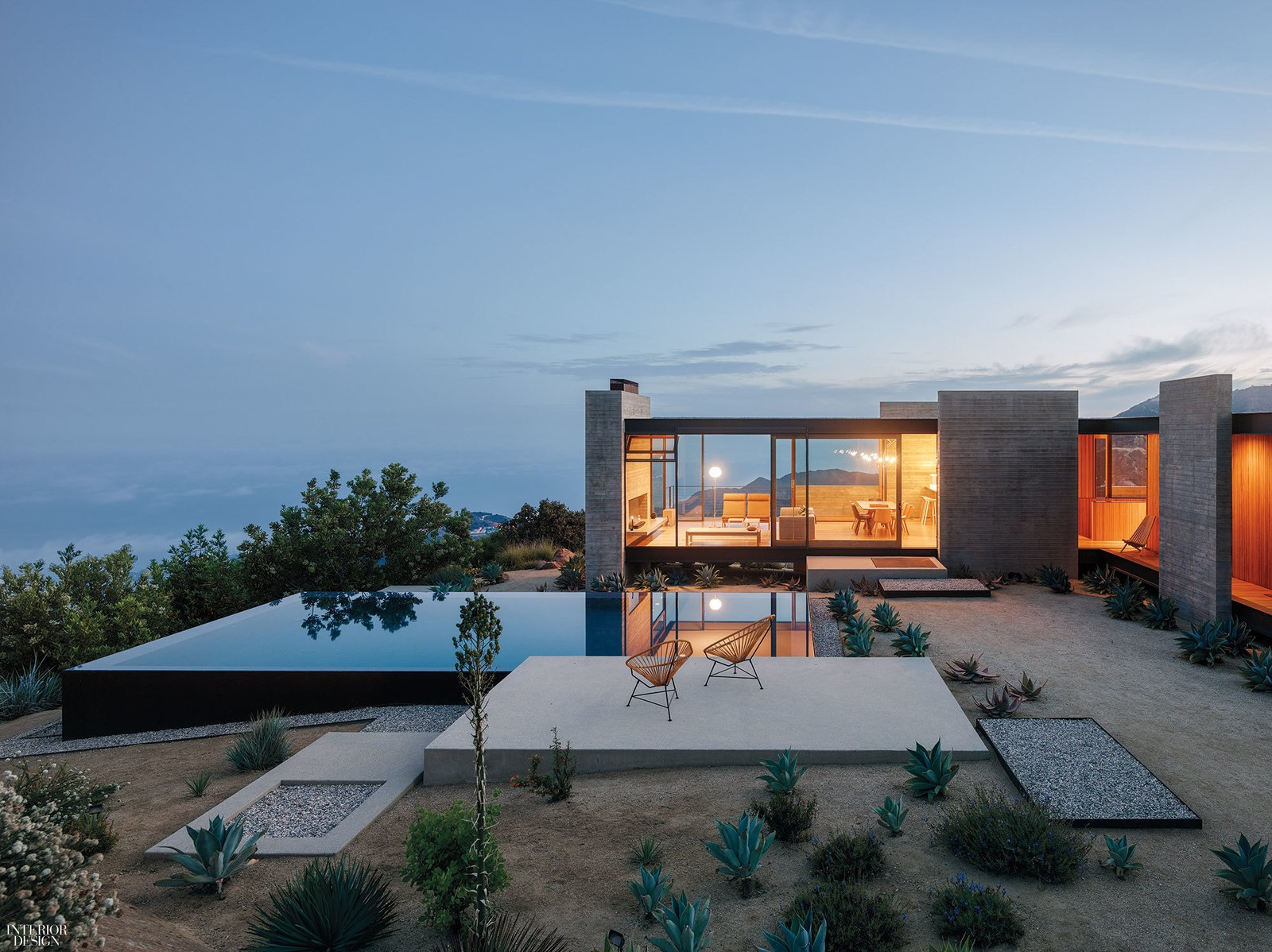 Saddle Peak House, Topanga Canyon by Sant Architects. Interiors by Context Gallery.